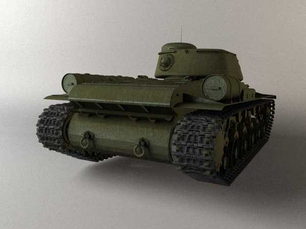 3d soviet tank model - KV-85... by loower