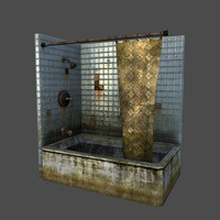 shower dirty 3d max