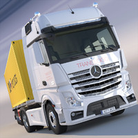 New Mercedes Actros MP4 Gigaspace 2012 Truck with 40ft Container trailer