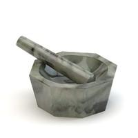 3d agate mortar