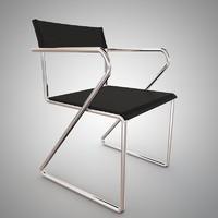 3d vintage sling chair