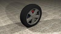 3d generic car tire rim model