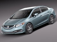 honda civic hybrid 2013 3d model