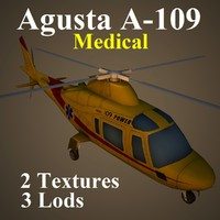 3dsmax agusta med helicopter