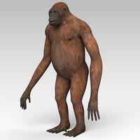 3d orangutan