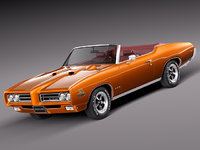 muscle car antique convertible 3d 3ds