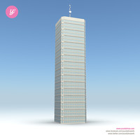 3d model skyscraper 18 day night