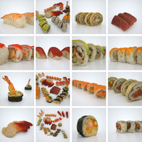 sushi photorealistic 3d model