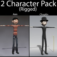 character pack 04 guy 3d model
