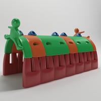túnel lúdico - freso 3d model