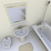 3d bathroom set