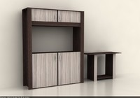 3d living room cabinet credenza model