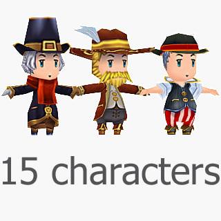 15 cute characters