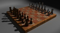 maya metal chess set