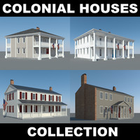 3d colonial houses