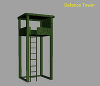 defense tower 3d model