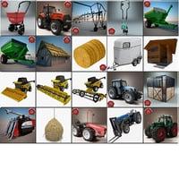 farm tractor 3d max