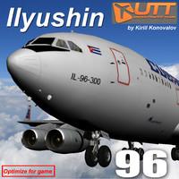 ilyushin il 96 3d max