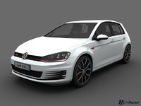 3d model of volkswagen golf gti 5