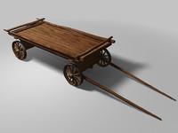 3d horse carts model