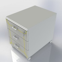 3d model furniture office cabinet dresser
