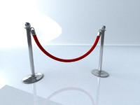 Stanchion with Velvet Rope