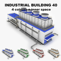 3d medium industrial building 40 model