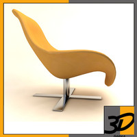 3d model mart armchair antonio