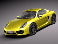 porsche cayman 2014 sport coupe 3d model