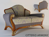 3d model of sofa citterio armony