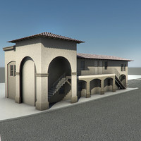 stucco building 3d model