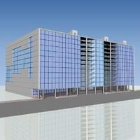 3d shopping complex model