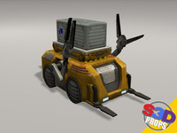 Sci-fi loader and crate