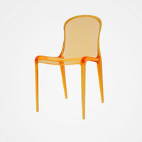 victoria chair polycarbonate 3d model