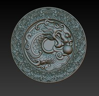 3d model of dragon relief