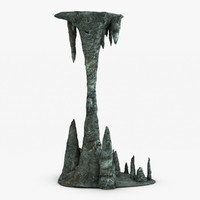 3d stalactite column model