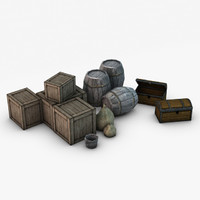 Low Poly Storage props