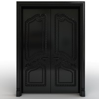 Black carved door