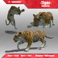3d max tiger animations