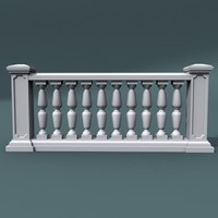 3d model balustrade architectural