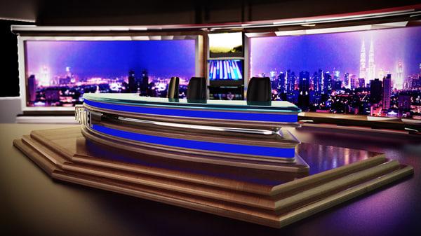 3d Tv News Room