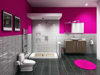 3ds max bathroom room