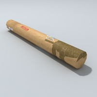 cardboard tube 3d model