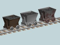 Lowpoly - Mining Cart and Track