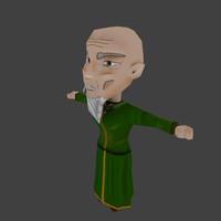 3d model oldman chibi character