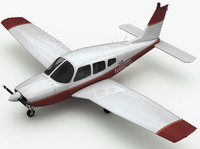 lwo piper arrow airplane