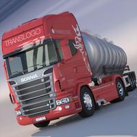 Scania R 730 V8 ADR Tanker SemiTrailer