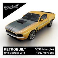 3d model 2013 retrobuilt 1969 mustang