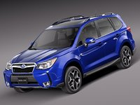 2013 2014 suv subaru forester 3d 3ds