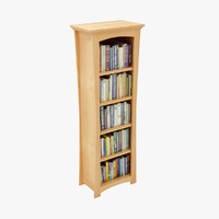 3d model bookshelf room book